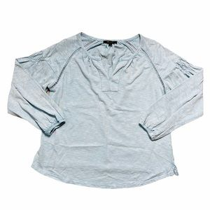 Frye Light Blue Long Sleeve Cotton Blouse S